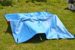 Barry Robinison's model under tarpaulin
