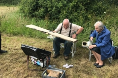 Winner John Allcock Takes apart his model