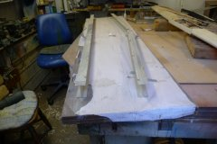 Aluminium extrusions used for wing jig