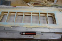 Wing in place on jig