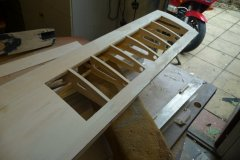 Wing removed from jig