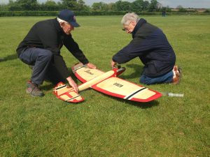 Icarus model aircraft being prepared for flight